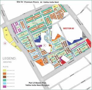 Floor Plan of Vatika India Nex
