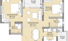 2BHK 2T 1245-Sq Ft.