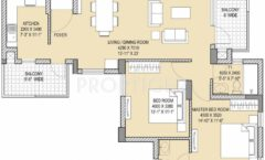 2BHK 2T 1435 Sq. Ft.