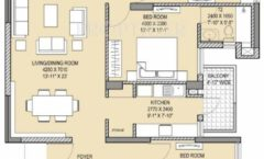 3BHK 3T 1980 Sq. Ft.