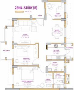 Vatika The Seven Lamps (2BHK+2T (1,435 sq ft) + Study Room 1435 sq ft)
