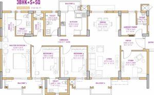 Vatika The Seven Lamps (3BHK+3T (2,160 sq ft) + Study Room 2160 sq ft)