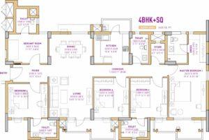 Vatika The Seven Lamps (4BHK+4T (2,425 sq ft) + Servant Room 2425 sq ft)